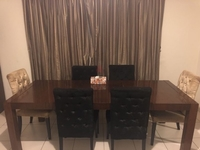 Used Dining Table with Six Exotic Chairs in Dubai, UAE