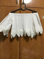 Used White Lace crop top in Dubai, UAE