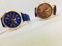 Used blue. and brown watch 2 pieces in Dubai, UAE