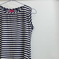 Used Dark Blue and White top For girls  in Dubai, UAE