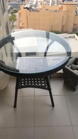 Used Garden furniture set, 1 table, 3 chairs  in Dubai, UAE