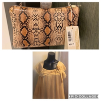 Used Ladies clutch and shirt in Dubai, UAE