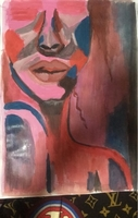Used woman acrylic painting in Dubai, UAE