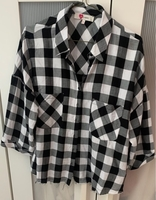 Used Black and White Cropped Check Shirt  in Dubai, UAE