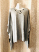 Used Top fits size M to XL grey stretch  in Dubai, UAE