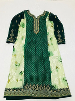 Ladies green Indian party wedg dress 2XL