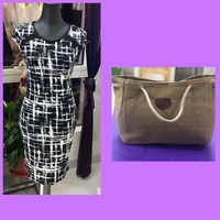 Used Fitted Dress/S & Canvass Bag in Dubai, UAE