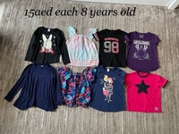Used Bundle tshirts for a girl 8 years old  in Dubai, UAE