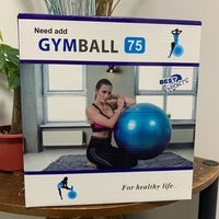 Used Gym Ball 75cm (5 colors to choose from) in Dubai, UAE