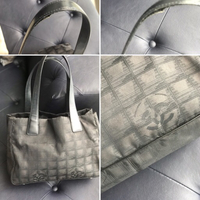 Used Authentic Chanel fabric tote bag in Dubai, UAE