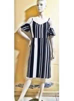 Used Stripe black and white off shoulder dres in Dubai, UAE