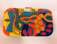 Used Colorful Beaded Clutch  in Dubai, UAE