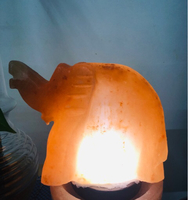 Used Himalayan salt lamp elephant design  in Dubai, UAE
