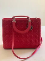 Used Lady Dior Red Bag Large in Dubai, UAE