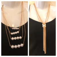 Used 2 pair of fashion necklaces new  in Dubai, UAE