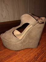 Used Beige/brown wedges in Dubai, UAE