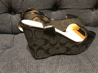 Used Authentic Coach wedges NEW in Dubai, UAE