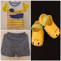 Used NEW Kid's Shirt/Shorts/Slippers4-5yrs+🎁 in Dubai, UAE
