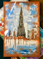 Used Rustic Dubai Downtown Painting in Dubai, UAE