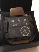 Used SKMEI Men's Leather Wrist Watch in Dubai, UAE