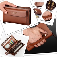 Used Large coin & card men's wallet 2 pcs in Dubai, UAE
