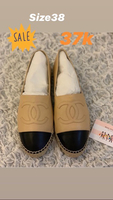 Used Chanel Espadrilles size 38 brand new in Dubai, UAE