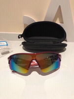 Sport polarized sunglasses red + case