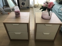 Used Set of two bedside tables 41x48x41 in Dubai, UAE