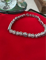 Used Silver plated bracelet with blue stones in Dubai, UAE
