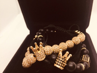 Luxury crown bracelets ( gold & black)