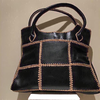 Used Black genuine Leather Tote Bag in Dubai, UAE
