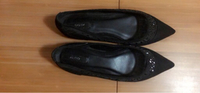 Used ALDO black flat shoes (Size: Euro 35) in Dubai, UAE