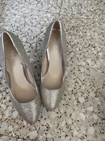 Used High heels shoes , silver, ALDO in Dubai, UAE