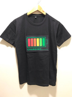 NEW LED Voice-Activated Music T-shirt M