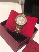 Used BS gold Watch with stones in Dubai, UAE