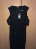 Used MID LENGTH DARK BLUE DRESS WITH CRYSTALS in Dubai, UAE