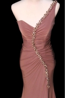 Used Old rose color evening dress  in Dubai, UAE