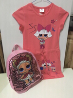 Used Girls dress (7 years) and backpack new in Dubai, UAE
