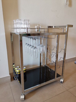 Used Bar trolley on wheels - 6 glasses incl  in Dubai, UAE