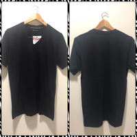New 2Pcs BOWL V Neck T-shirt Size M