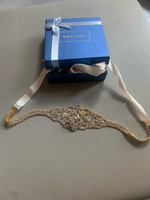 Used Gold Diamanté Broach Ribbon Belt in Dubai, UAE
