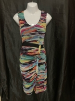 Used Printed multi colored dress in Dubai, UAE