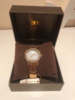Used Golden diamond look BS watch  in Dubai, UAE