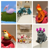 Used Miniaturen cats/craft Bird/Pelican decor in Dubai, UAE