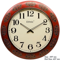 Used Wall Clock Red Accent in Dubai, UAE