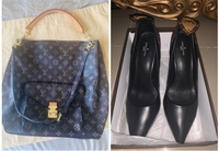 Used LouisVuittonHoboMetis & heels 40 bundle in Dubai, UAE