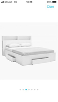 Used Oslo Queen bed from Home Box in Dubai, UAE