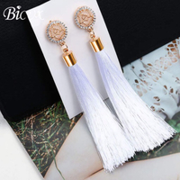 Used Earring bohemian long drop white tassel in Dubai, UAE