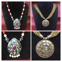 Necklace with real stones + beads