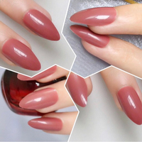 Used NEW Red brown 24pcs acrylic false nails in Dubai, UAE